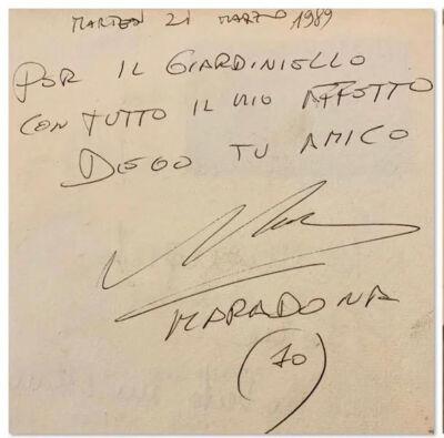 Autografo di Maradona